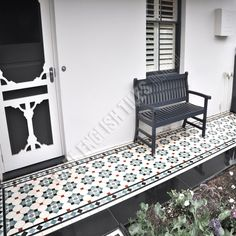 Olde English Tiles Australia - Glasgow pattern with Norwood boarder