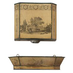 Small tole wall mounted fountain, France  c. 1810