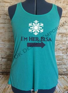 I'm Her Elsa Flowy Women's Tank by DKDesignEmporium on Etsy