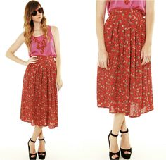 90s Floral Revival Skirt
