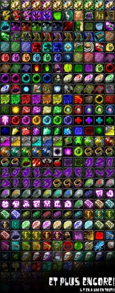 Icon List World of Warcraft by TSG-Arakara
