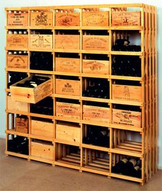 cave vin partir de palette en bois cave. Black Bedroom Furniture Sets. Home Design Ideas