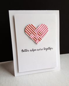 I'm in Haven: More Hearts...  SSS (Simon Says Stamp) Danish Hearts die. LOVE the stripes with this