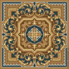 Купить Схема вышивки подушки (табурета) 78378 - комбинированный, авторская разработка, старинная схема вышивки