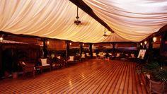 pavilion setup. corporate entertainment suite for top-tier ticket holders