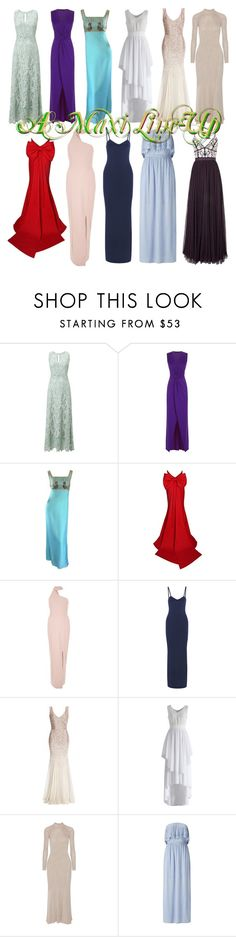 """""""Maxi Line"""" by april-wilson-nolen ❤ liked on Polyvore featuring Phase Eight, HotSquash, River Island, Nina Ricci, Chicwish, Cédric Charlier, Miss Selfridge and Needle & Thread"""