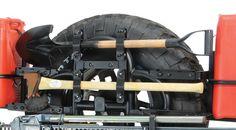 66708 - Garvin Industries Axe & Shovel Brackets for 07-13 Jeep® Wrangler & Wrangler Unlimited JK with Garvin G2 Swing Away - Quadratec