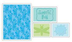 On Sale Sizzix Tim Holtz Embossing Folder SUMMER by AmGiftShoP