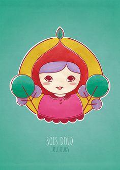 Dolce by Fernanda Sponchiado, via Flickr #illustration #girl #tree