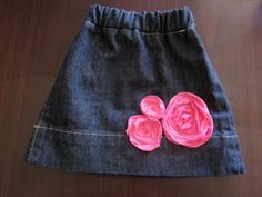 Baby skirt made from an old pair of jeans
