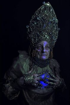 series 'Pagan Poetry' made by Polish photographer Macin Nagraba and all costumes made by Agnieszka Osipa. The model is the photographer's mother and by all means having a 'babushka' in this photo shoot just gives even more Slavic feel to it. Pagan Poetry, Eslava, Pagan Fashion, Women's Fashion, The Wicked The Divine, Pagan Gods, Dark Pictures, Dark Photography, Macabre Photography