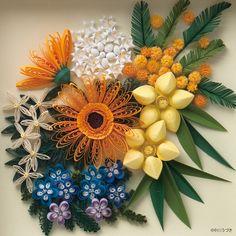 クイリングとは - Quilled bouquet