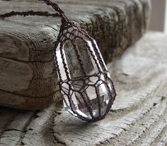 Crystal Quartz Pendant Quartz Crystal Point by TheTreeFolkHollow