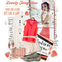 How To Wear How To Lovely Tangerine Outfit Idea 2017 - Fashion Trends Ready To Wear For Plus Size, Curvy Women Over 20, 30, 40, 50