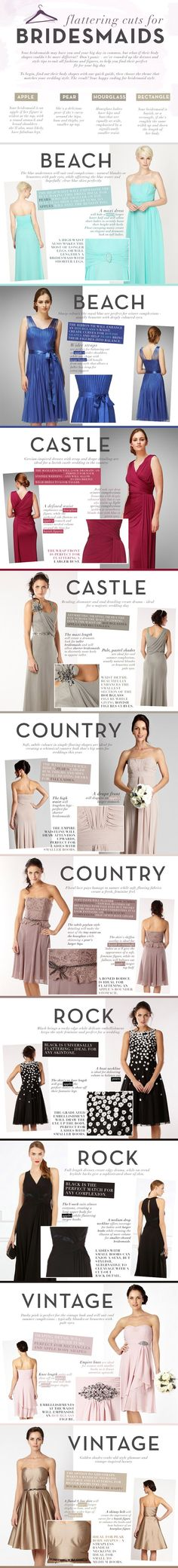 Flattering Cuts for Bridesmaids | Infographic by Debenhams