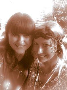 Time travelling authors. Katie M. John with Christina Benjamin
