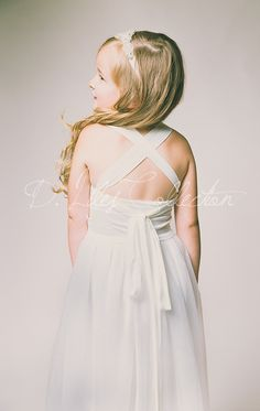 The Evangeline Ivory Blush chiffon lace tulle by DLilesCollection
