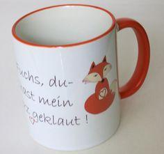 Kaffeebecher Spruch Fuchs, Liebe  von ღKreawusel-Designღ auf DaWanda.com