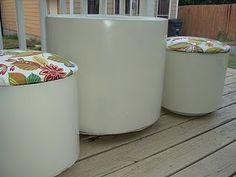 Planters turned Patio Furniture #Furniture #DIY