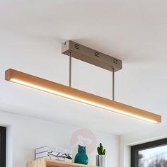 Deckenleuchte Thees Holz Dunkel Braun Quadratisch 23,5 cm Lampenwelt Deckenlampe
