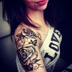 Black Rose Arm Temporary Tattoos at MyBodiArt