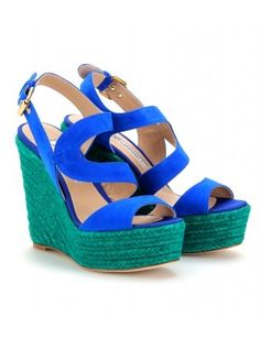 mytheresa.com - Brian Atwood - SUEDE ESPADRILLE WEDGES - Luxury Fashion for Women / Designer clothing, shoes, bags - StyleSays