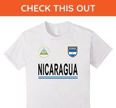 Kids Nicaragua Soccer T-Shirt - Nicaragua Football Jersey 2017 6 White - Sports shirts (*Amazon Partner-Link)