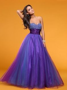 A-line Empire Beaded Sleeveless Long Prom Dress picture 1