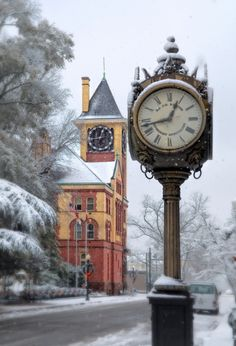 Snowstorm in New Bern, North Carolina