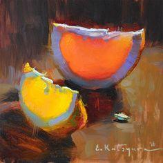"Daily+Paintworks+-+""Spring+Citrus""+-+Original+Fine+Art+for+Sale+-+©+Elena+Katsyura"
