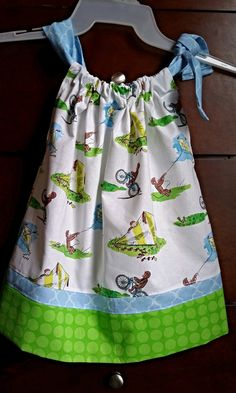 Check out this item in my Etsy shop https://www.etsy.com/listing/237356438/handmade-curious-george-pillowcase-dress