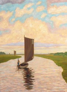 Hermann Seekamp. 1881 Bremen - 1936 Worpswede. There is something mystical about this painting. Note by Roger Carrier