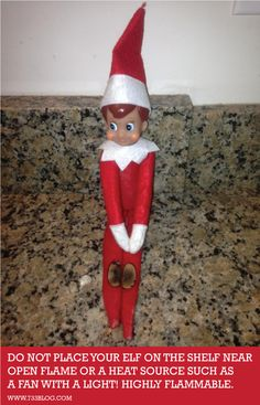 Don't place your elf near open flame or a heat source! They are highly flammable!