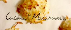 Quick and Easy Coconut Macaroon Recipe - FEMME & FORTUNE