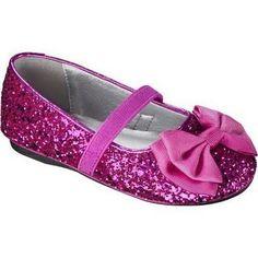 Toddler Girl's Jayna Glitter Ballet Flat - Bright Pink