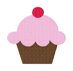 Yummy Cupcake Machine Embroidery Design by JoyfulStitchesEtsy, $3.50