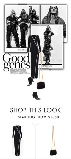 """""""They have a good genes"""" by drigomes ❤ liked on Polyvore featuring Balmain, Pierre Balmain, women's clothing, women's fashion, women, female, woman, misses and juniors"""