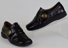 Josef Seibel 38 Kathrin Black Patent Leather Shoes US Women's Sz 7.5-8 #JosefSeibel #LoafersMoccasins #Casual