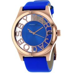 Marc by Marc Jacobs MBM1244 Women's Maliblue Leather Strap Watch - WatchMonde