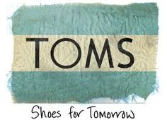 Toms shoes-for a great charity cause!
