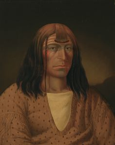 """Paul Kane was the first and only artist in Canada to embark upon a pictorial and literary project featuring the country's Aboriginal peoples; however, his work does contain inaccuracies and anachronisms. """"Nesperces Indian,"""" Nez Perce, c. 1849–56, Royal Ontario Museum."""