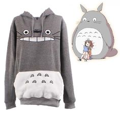 Find More Hoodies & Sweatshirts Information about Japanese Anime My Neighbor Totoro hoodie Cute Gray Hoody Free Shipping,High Quality hoodie,China hoodies wings Suppliers, Cheap hoodie clothing from Cosplay Home on Aliexpress.com