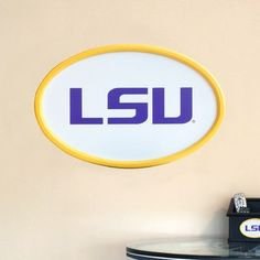 Fan Creations NCAA Logo Textual Art Plaque NCAA Team: LSU