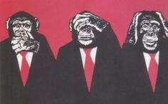 Trois singes de la sagesse - Kikazaru, Iwazaru et Mizaru.