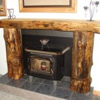 faux fireplace out of old furniture ideas