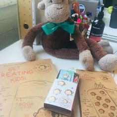 pretty fun business really. Activity Box, Monkeys, Kids And Parenting, Teddy Bear, Desk, Activities, Business, Pretty, Fun