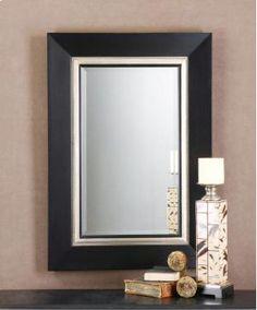 Charlton Home Bianchi Warhol Beveled Vanity Mirror Silver Framed Mirror, Black Wall Mirror, Vanity Wall Mirror, Beveled Mirror, Beveled Glass, Mirror Glass, Framed Mirrors, Bathroom Mirrors, Small Bathroom