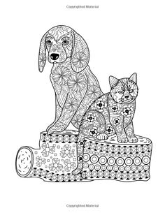 1000 Images About Adult Coloring Pages Animals On Pinterest