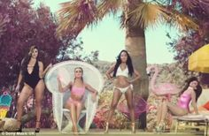 Tropical vibes: The latest teaser of Little Mix's anticipated video for Shout Out To My Ex...