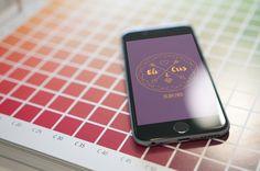 Save the date digital de casamento com linework e cores editaveis, super moderno.